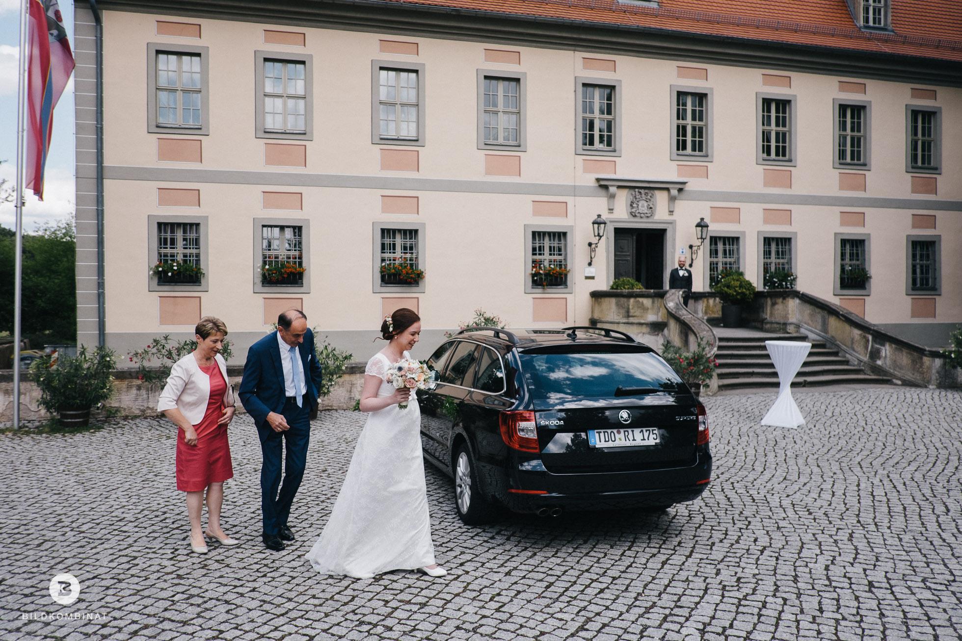 Brautankunft Schloss Machern