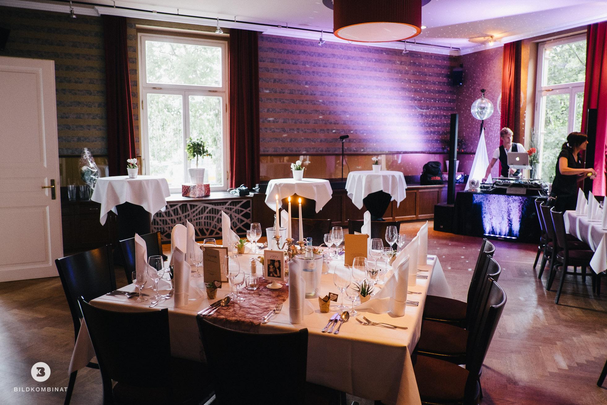 Hochzeitsfeier in Leipzig im Mückenschlösschen